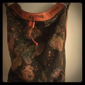Handbags - Vintage Ralph Lauren Brocade Bucket handbag